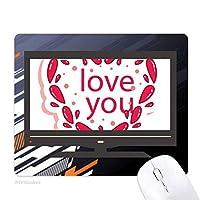 バレンタインデーのピンクのハートがあなたを愛して ノンスリップラバーマウスパッドはコンピュータゲームのオフィス