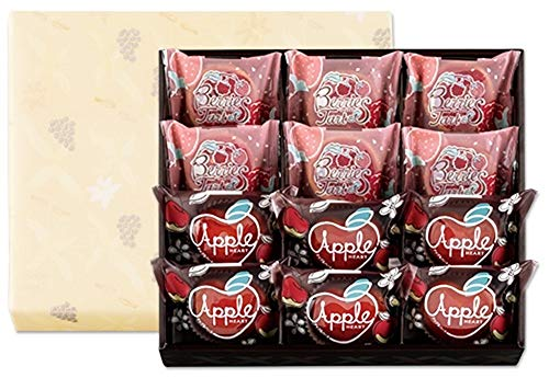 銀のぶどう 果実のオータムギフト アップルハート  ベリーズタルト 詰め合わせ (12個) 国産もち米あられ1個セット