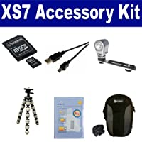 Polaroid XS7 Camcorder Accessory Kit includes: SDC4/32GB Memory Card SDC-21 Case USB5PIN USB Cable ZELCKSG Care Cleaning ZE-VLK18 On-Camera Lighting GP-22 Tripod