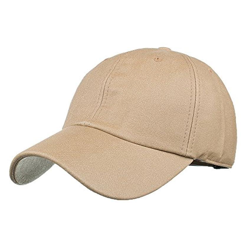 繊毛業界キモいRacazing Cap PU 無地 ヒップホップ 野球帽 通気性のある 帽子 夏 登山 可調整可能 棒球帽 UV 帽子 軽量 屋外 Unisex Hat (カーキ)
