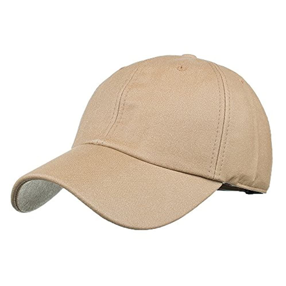 記憶解明暗唱するRacazing Cap PU 無地 ヒップホップ 野球帽 通気性のある 帽子 夏 登山 可調整可能 棒球帽 UV 帽子 軽量 屋外 Unisex Hat (カーキ)