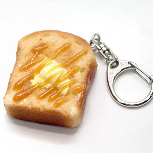 食品サンプルキーホルダー 食べちゃいそうなトースト(ハニー) 129OK