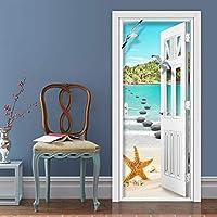 Xbwy 写真の壁紙現代の海辺の風景壁画リビングルームの寝室の家の装飾のドアのステッカーPvc自己接着防水3D壁画-280X200Cm