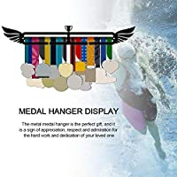 メダルディスプレイハンガーウォールマウントメダルラック体操用水泳ダンス空手メタルブラケットアスリートスポーツ活動メダルディスプレイフックメダルホルダールームデコレーション