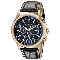 シチズン Citizen Mens メンズ 男性用 BU2023-04E Calendrier Gold-Tone Watch 腕時計 with Leather Band [並行輸入品]