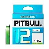 シマノ(SHIMANO) PEライン ピットブル 12本編み 150m 0.6号 サイトライム 13.9lb PL-M52R