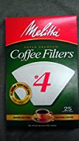 Melitta # 4 Cone Coffee Filters, Pkg of 25 (Set of 2 )