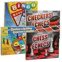 おもちゃ Family Fun Board Game Bundle Snakes and Ladders BINGO Chess and Checkers [並行輸入品]