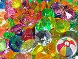 アクリルアイス ダイヤモンド 蛍光クリア ミックス(1kg)  / お楽しみグッズ(紙風船)付きセット