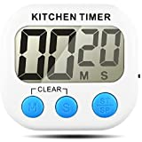 Kitchen Timer, Senhai Count up/Down Large LCD Display Electronical Memory Timer