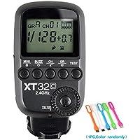 Godox xt32-c高速同期1/ 8000s 2.4Gワイヤレスリモート制御フラッシュトリガートランスミッターfor Canonカメラ+ conxtrue USB LED無料ギフト