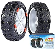YEZOND 非金属 タイヤチェーン 車用 タイヤチェーン 軽自動車用 簡単装着 ジャッキアップ不要