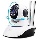 ネットワークカメラ スマホ対応 小型 wifi ペット 広角 高画質 カメラ監視 防犯カメラ ワイヤレス IPカメラ ベビーモニター 暗視撮影 マイク内蔵 動体検知 ペット 子供 見守り 720P 100万画素 日本語説明書付き