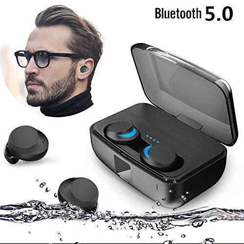 『zhongxinze 【進化版 3000mAh IPX8完全防水】Bluetooth イヤホン Hi-Fi 高音質 最新Bluetooth5.0+EDR搭載 3Dステレオサウンド 完全ワイヤレス イヤホン 自動ペアリング ブルートゥース イヤホン AAC対応 左右分離型 Siri対応 音量調整可能 超大容量充電ケース付き 片耳&両耳とも対応 iPhone/ipad/Android適用 (ブラック)』のトップ画像