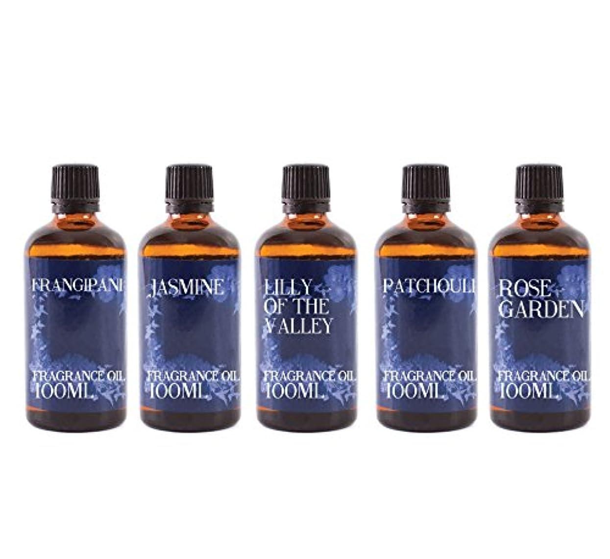 ワインリフト原稿Mystic Moments   Gift Starter Pack of 5 x 100ml Floral Favourite Fragrant Oil