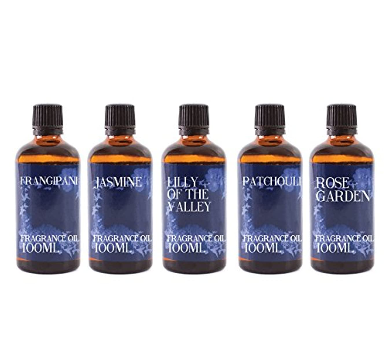 レザー有毒根絶するMystic Moments | Gift Starter Pack of 5 x 100ml Floral Favourite Fragrant Oil