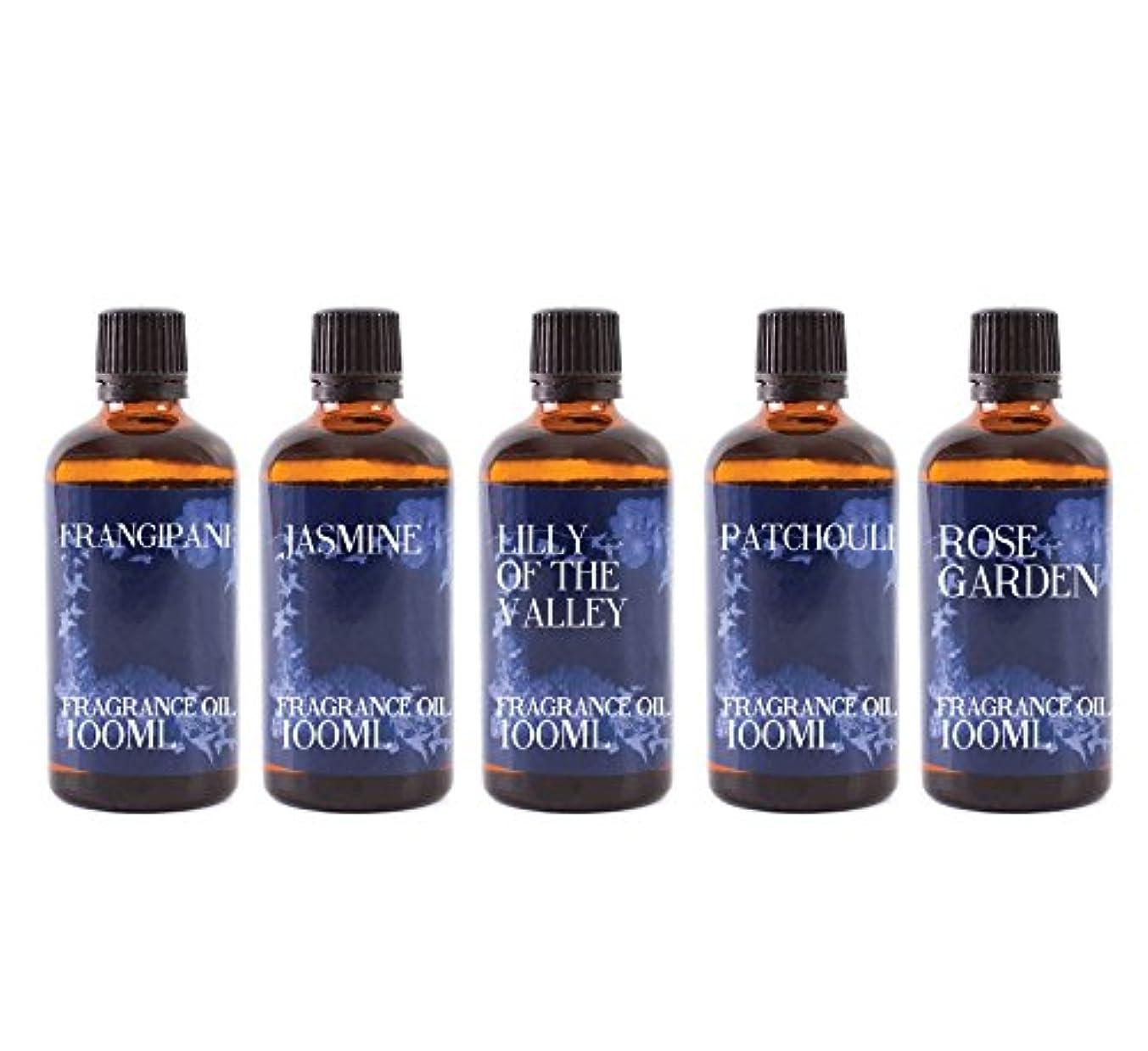 間接的フィード国民投票Mystic Moments   Gift Starter Pack of 5 x 100ml Floral Favourite Fragrant Oil