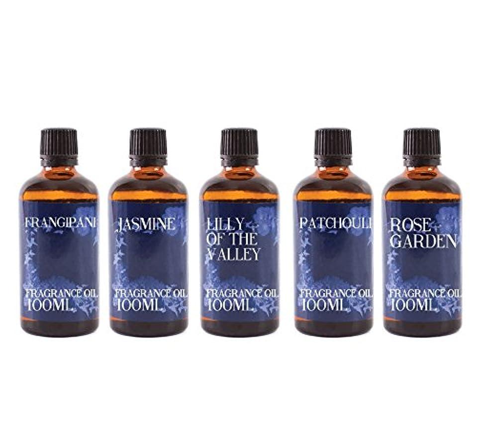 暗殺者正気前件Mystic Moments | Gift Starter Pack of 5 x 100ml Floral Favourite Fragrant Oil