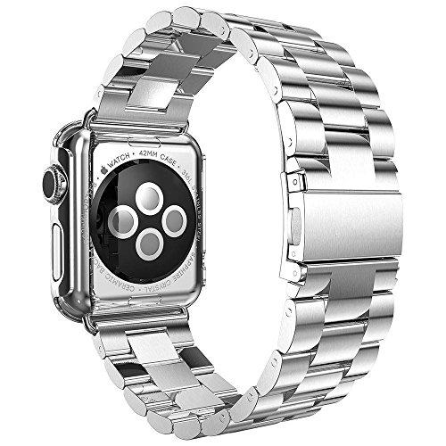 Kartice Apple Watch バンド 高級ステンレスベルド アップルウォッチ/ New Apple iWatch Series 2  に対応 バンド ラグ付き(38mm,シルバー)