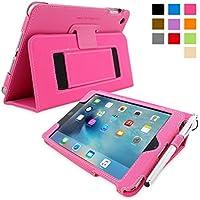 英国Snugg社製 Apple iPad Mini 4 用 レザーケース - スタンド機能・生涯補償付き (ホットピンク)