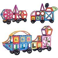 マグネットおもちゃ 子供プレゼント 磁石 おもちゃ 3d立体パズル カラフル 磁気建設玩具 磁石付き積み木 幾何学認知 想像力と創造力を育てる 男の子 女の子 おもちゃ 入園 お祝い クリスマス プレゼント(豪華の190ピースセット)