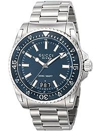 [グッチ]GUCCI 腕時計 DIVE ブルー文字盤 300M防水 YA136203 メンズ 【並行輸入品】