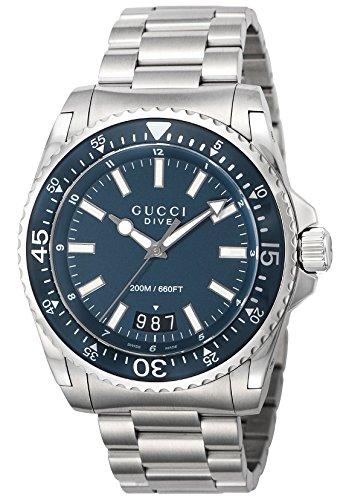 [グッチ]GUCCI 腕時計 DIVE ブルー文字盤 300M...