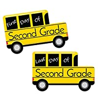 2nd Grade - FIRST and LAST Day of School Bus Signs - Back To School Photo Prop