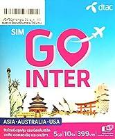 【Dtac】アジア・オーストラリア プリペイドSIM 10日 容量5GB 4G(LTE)データ