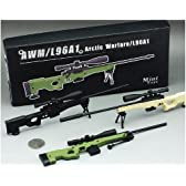 AWM/L96A1 PM1個  黒色ブラック ライフルガンフィギュア模型銃 1/6