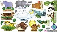 Mona Melisa Designs Peel, Play and Learn Wall Play Set, Endangered Species by Mona Melisa Designs