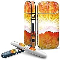 IQOS 2.4 plus 専用スキンシール COMPLETE アイコス 全面セット サイド ボタン デコ その他 和風 和柄 富士山 005505