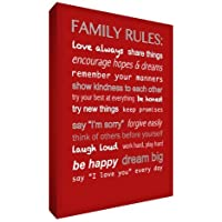 Feel Good Art Thick Box Canvas Family Rules (A1, Red) by Feel Good Art