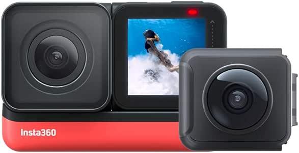 Insta360 ONE R ツイン版(ONE R コア+360度モジュール+4K広角モジュール) 360度アクションカメラ 5.7K 360度全天球 + 4K広角高画質撮影 FlowState 手ブレ補正 5m防水パノラマカメラ スポーツカメラ【国内正規品】