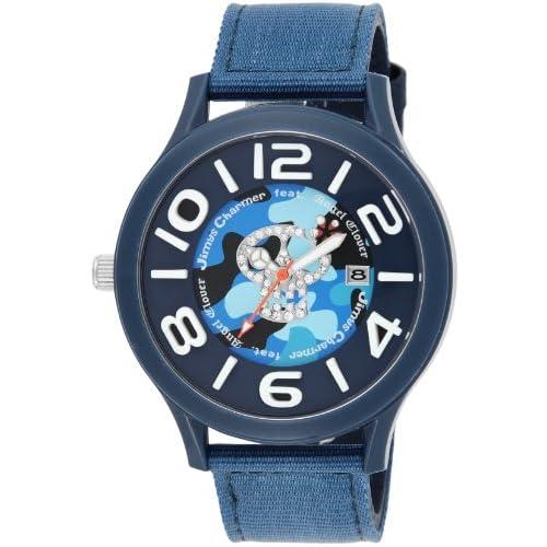 [エンジェルクローバー]Angel Clover 腕時計 JimysCharmerコラボモデル ネイビー文字盤 400本限定 ポリカーボネイトケース ナイロン/カーフ革ベルト JC48NV メンズ