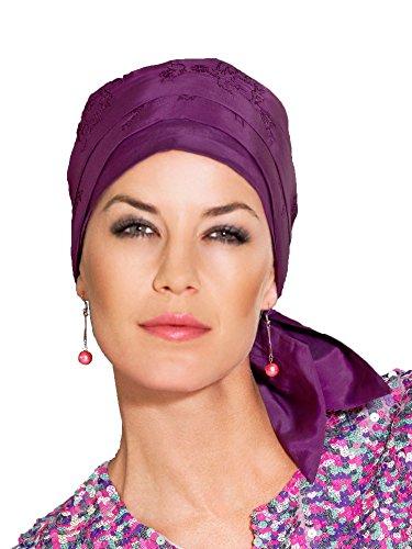 (Christine) Christine Christine scarf Ladies medical hat, wig alternative bandana cap 8200-184 (01-164) Basic Long Purple