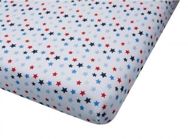 Big Oshi Jersey Knit 100% Cotton Fitted Crib Sheet, Stars by Big Oshi
