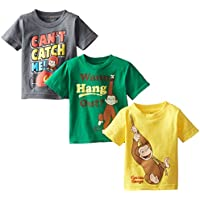 Curious George Boys' Boys Assorted T-Shirt 3-Pack No 1