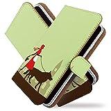 g08 ケース 手帳型 散歩 赤ずきん 緑 あかずきん 手帳 カバー ジー8 g8 g 08ケース g 08カバー 手帳型ケース 手帳型カバー キャラクター [散歩 赤ずきん 緑/t0678]