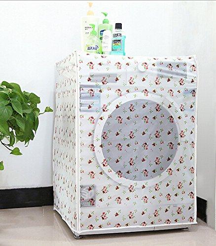 Peva防水と防塵洗濯機カバー付きジッパー保護ケース自動ローラー洗濯機カバー60 * 56 * 83 cm -up open A style