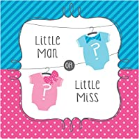 Bow or Bowtie Gender Reveal Party Napkins - 33cm - Pack of 16