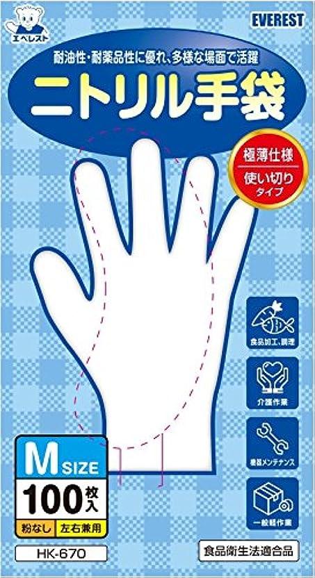 に対処する不足交差点ニトリル手袋 100枚入 Mサイズ