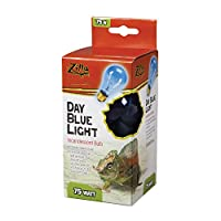 Zilla Reptile Terrarium Heat Lamps Incandescent Bulb, Day Blue, 75W by Zilla