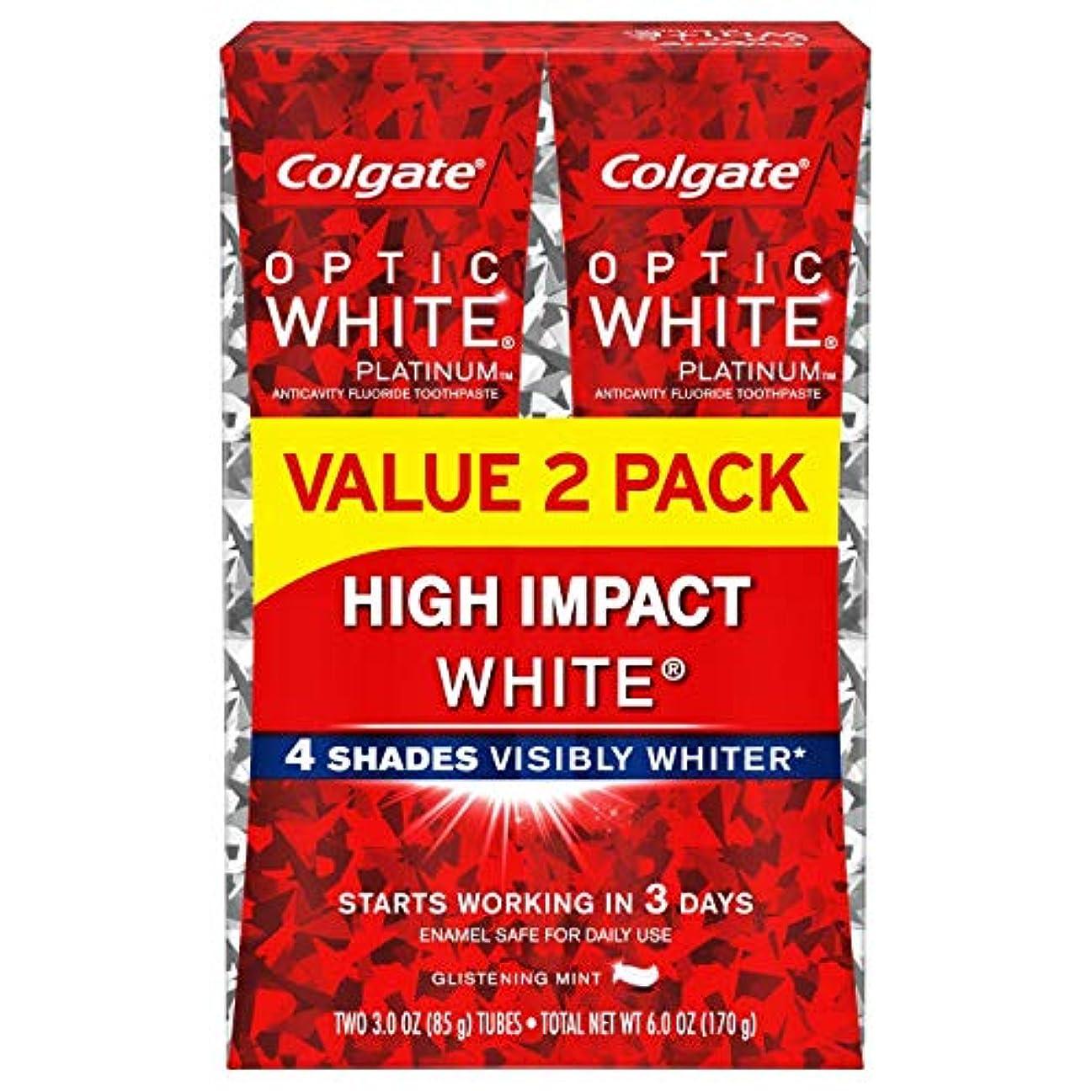 同級生中世の住居Colgate Optic White High Impact White 練り歯磨き [並行輸入品] (2個セット)