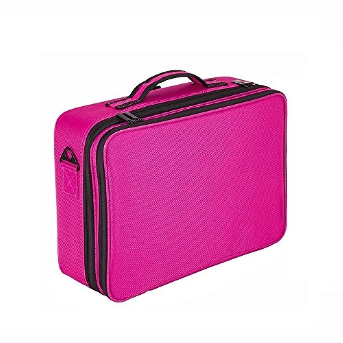 黒困難キュービックMLMSY化粧品ケースプロの旅行の化粧品の袋、鏡の化粧ケース、大容量の収納袋調節可能なclapboard化粧ケース42 cm * 30 cm * 12 cm