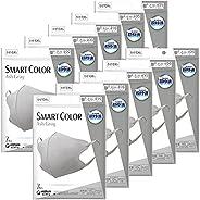 【まとめ買い】超快適マスク スマートカラー(SMART COLOR)アッシュグレー ふつう 7枚×10個セット