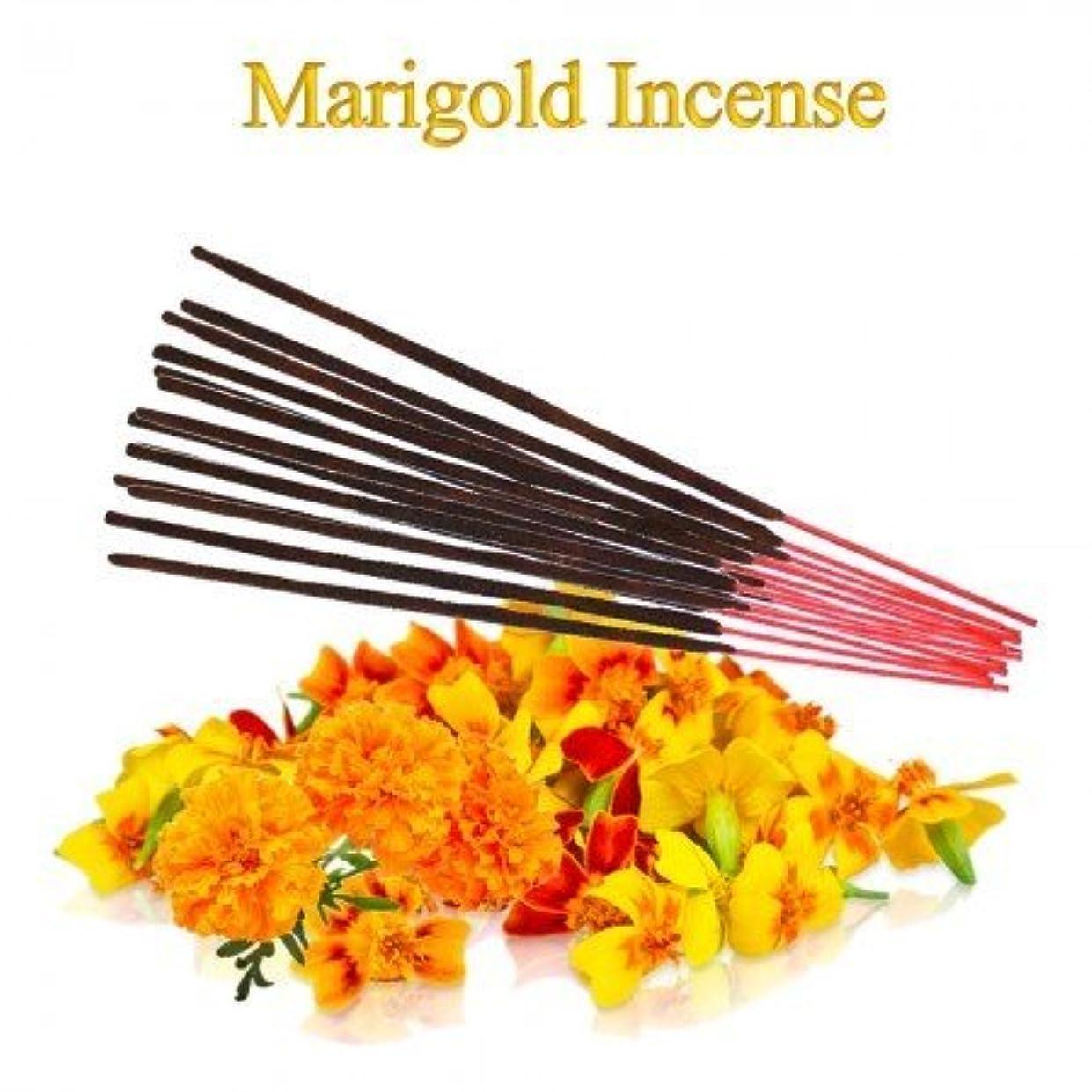 闇水平帰るMarigold Incense - 100 gms Divine World
