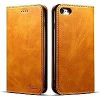 iPhone7ケース 手帳型 iphone8 ケース 手帳 Rssviss 耐衝撃 耐摩擦 高級PUレザー 財布型 アイフォン6sプラスケース レザー カバー カード収納 マグネット スタンド機能 人気 おしゃれ [iPhone 7/iPhone 8 4.7 inch] レトロブラウン