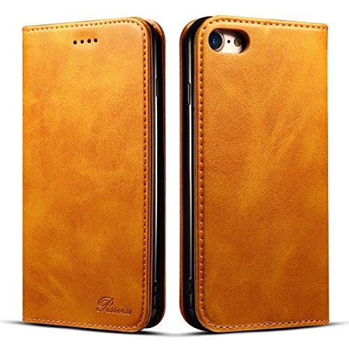iPhone7ケース iPhone8 手帳型 Rssviss アイフォン 7 8 ケース 手帳 マグネット レトロブラウン