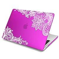 """(バティアンダ) Batianda™ Apple MacBook Pro 13 15 12 Retina Air 13 11用ハードカバーケース レースと艶消しがユニーク New Macbook 12"""" M017-Matte"""